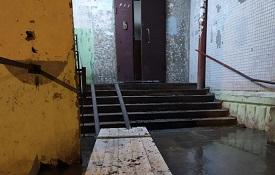 Заливка крыльца бетоном в доме по адресу ул. Коломенская, 55