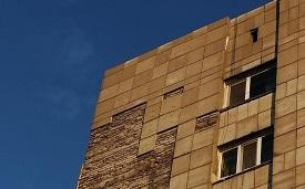 Укрепление фасадных плит в доме по адресу ул. Героев Хасана, 91