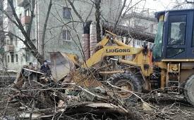 Уборка мусора с придомовых территорий