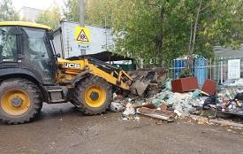 Уборка мусора на контейнерных площадках